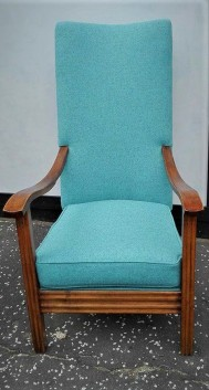vintage chair with wool
