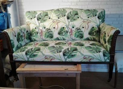 Edwardian sofa near completion