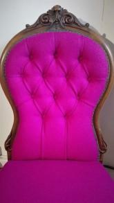deep buttoned antique chair
