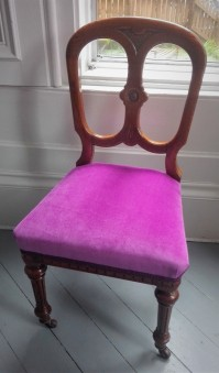 finished dining chair velvet