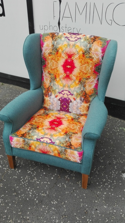 Parker Knoll arm chair with velvet with wool