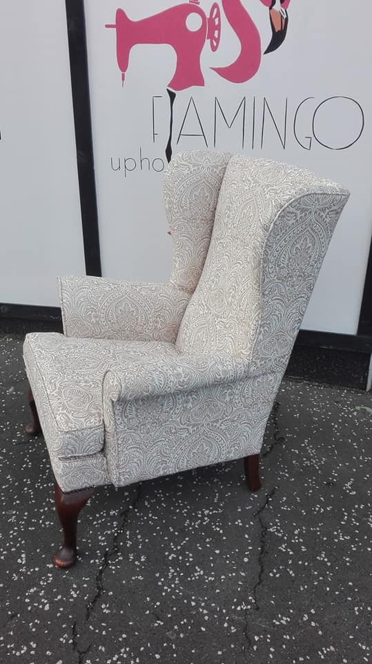 Parker Knoll chair winged arm chair