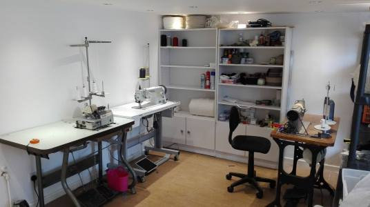 Our sewing area