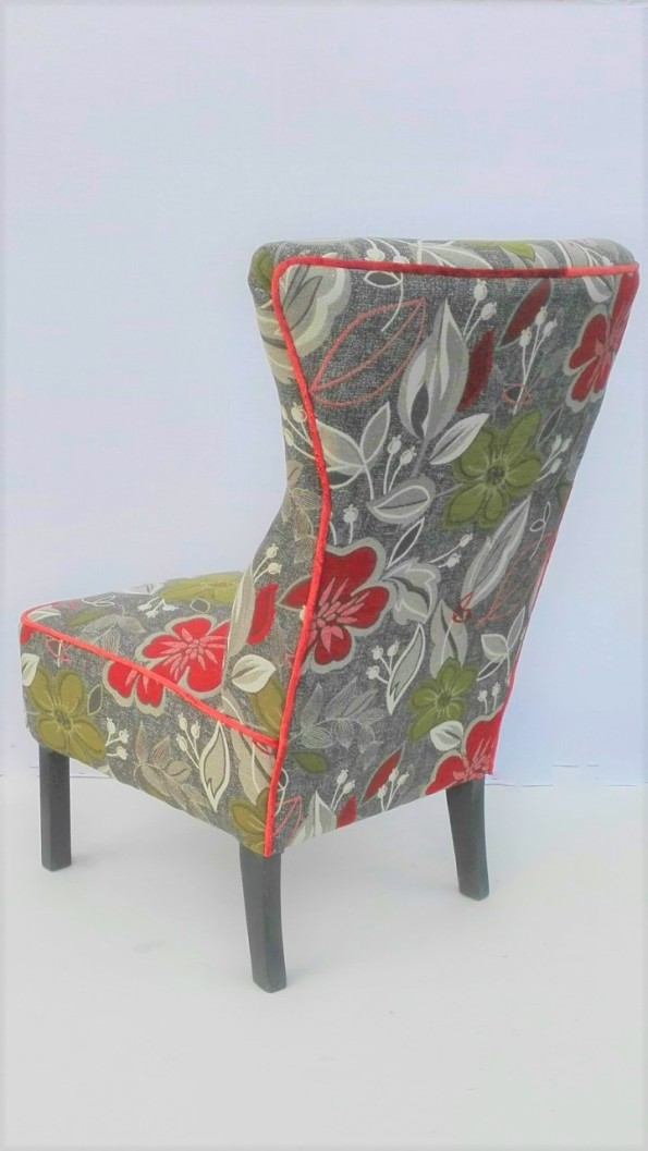 flowery vintage chair